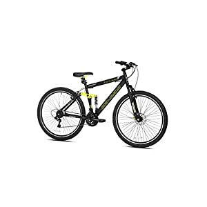 Genesis 29″ Incline Men's Mountain Bike, Black/Yellow