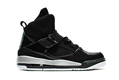 Nike Jordan Flight 45 High Gg, Zapatillas de Baloncesto para Niñas Negro / Plateado / Blanco / Amarillo (Black / Mtllc Slvr-Wht-Mtllc Gld)