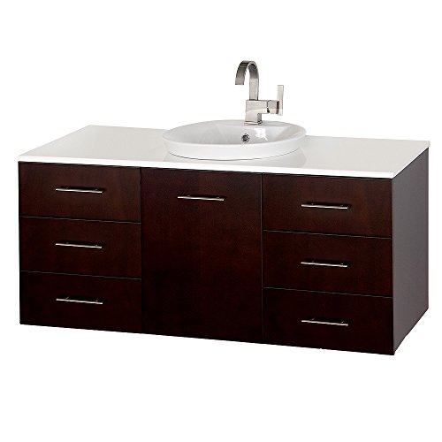 free shipping wyndham collection arrano 55 inch double bathroom vanity in espresso with white. Black Bedroom Furniture Sets. Home Design Ideas