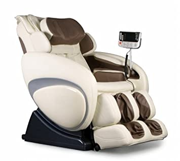 Exceptional OS 4000 Zero Gravity Heated Reclining Massage Chair   Cream Color Upholstery