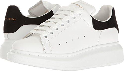 Alexander McQueen Women's Lace-Up Sneaker White/Black 35 M EU