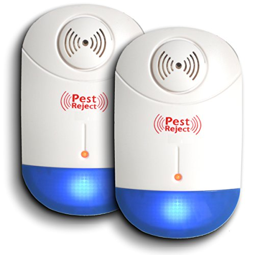 Ultrasonic Pest Repeller (2-Pack) Plug-In Pest Control For Mosquitoes, Mice, Rodents, Insects And More, Includes Night-Light, Portable, Eco-Friendly, Home Pest Control