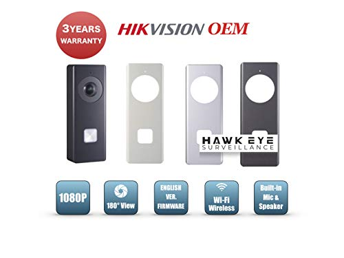 1080P HD Wifi Video Doorbell - Wireless Intercom Camera, 2MP, 180 degree Ultra Wide Angle, Motion Detection, Video Recording Night Vision Video Audio Communication with Mobile App Hikvision Compatible