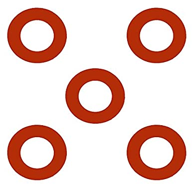 2.38 ID Sterling Seal CRG7237.200.125.150X5 7237 Red Rubber Ring Gasket 2 Pipe Size Pack of 5 1//8 Thick Pressure Class 150#