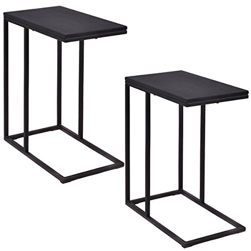 Set of 2 Coffee Tray Sofa End Table Ottoman Couch Console Stand TV Lap Snack (Stools Target Sale Bar)