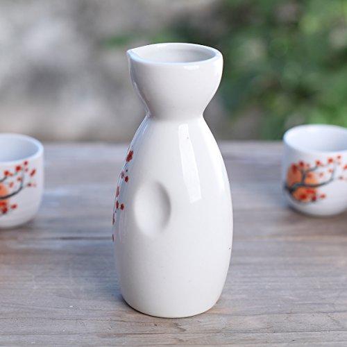Tosnail 5 pcs Ceramic Japanese Sake Set - Orange Blossom by Tosnail (Image #4)