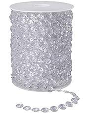 Cuentas de Cristal Guirnalda 30 Metros Perlas de Garland Cristal Acrílico Diamante para Cortinas DIY Boda Fiesta Decoración