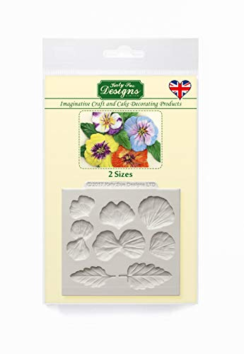 Cake Marzipan Decorating - Pansies Silicone Cake Mold for Cake Decorating, Cupcakes, Sugarcraft, Candies and Clay, Food Safe