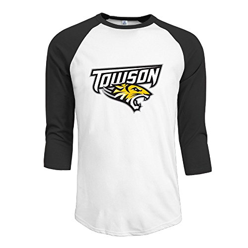 Towson University Stars Great Looking Summer Guns Three-Quarter Sleeve Football Jersey Tees