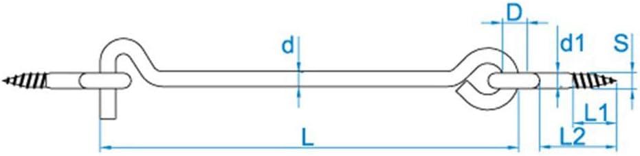 50 X Sturmhaken mit 2 /Ösen 4.40x120 Eisen glanzverzinkt