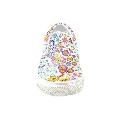 D-story Aangepaste Sneakerbloemen Plaatsen Vrouwen Ongebruikelijke Opsteekbare Canvasschoenen