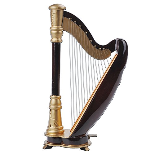 PUNK 1:12 Scale Miniature Instrument Music Case Stand Miniature Musical Instrument (Harp:8144.5cm)