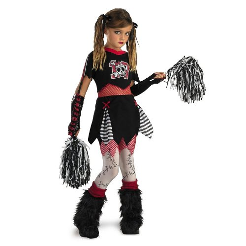 Cheerless Leader - Size: Child (Goth Cheerleader Costume)