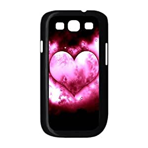 HOPPYS Phone Case Love Pink Hard Back Case Cover For Samsung Galaxy S3 I9300