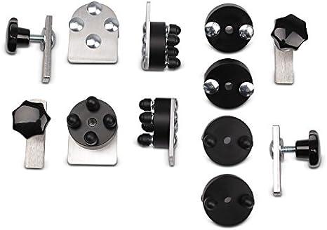 Kit de montaje para maletas de aluminio para portamaletas lateral de 18mm par Kawasaki ER-5 Twister, ER-6f/ ER-6n, GPX 600/ 750 R, GPZ 1100, GTR 1000, KLE 500, KLR 650, KLV 1000, Z 650, ZR-7/ S