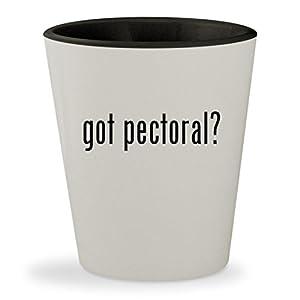 got pectoral? - White Outer & Black Inner Ceramic 1.5oz Shot Glass