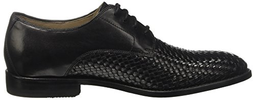 Clarks Mannen Twinley Kant Derby Lace Up Brogues Zwart (black Weave)