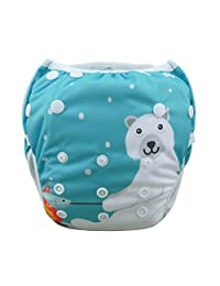 Babygoal Baby Swim diapers, Babygoal Reuseable Washable and Adjustable for Swimming, Outdoor Activities and Daily Use, Fit Babies 0-2 Years SWD40-CA
