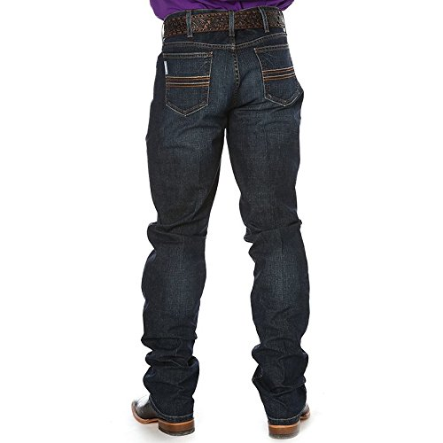 Cinch Men's Silver Label Slim Fit Jean, Performance Dark Stonewash, 30W x 36L
