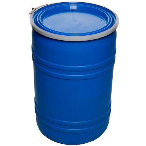 Air Sea Containers 55 Gallon Reconditioned Open Head UN Rated Poly Drum with Ring Lock Lid
