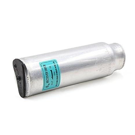 DealMux universal tono de plata R134 Car Auto Aire Acondicionado A / C Receptor embalse Asamblea secador Sistema: Amazon.es: Coche y moto