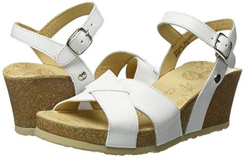 Mujer white Para Con Sandalias Cuña Basics Panama Blanco Jack Vika HwxUcO0