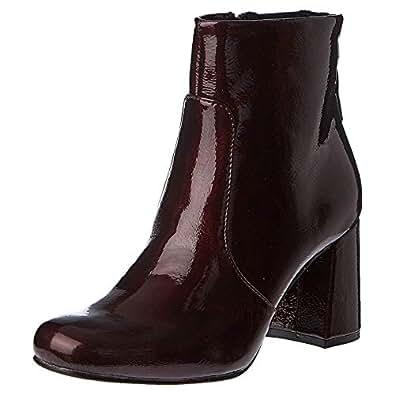 Shoexpress Heel Boots for Women - Burgundy