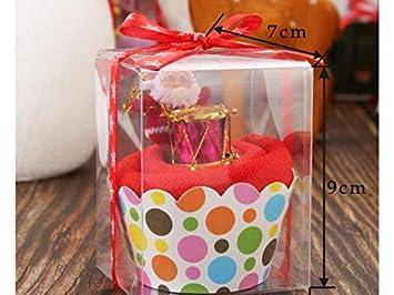 yter Pastel de Navidad toalla algodón toalla caja decoración dulce mano toalla débarbouillette toalla de mano Baby Shower Gift - Random color: Amazon.es: ...