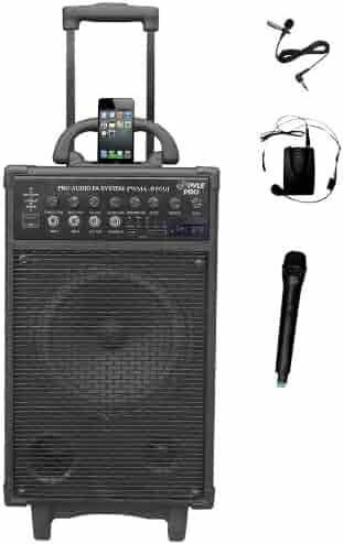 Pyle Pro 500 Watt Outdoor Portable Wireless PA Loud speaker - 8