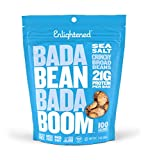 Enlightened Bada Bean Bada Boom Plant Protein Gluten Free Roasted Broad (Fava) Bean Snack, Sea Salt, 3 Ounce (Pack of 6) For Sale