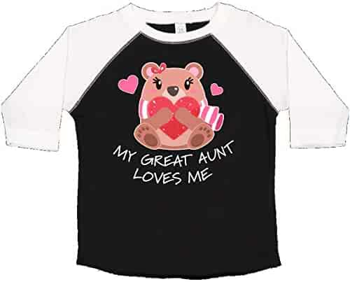 0b94a8e1e6e inktastic - My Great Aunt Loves me- Bear and Hearts Toddler T-Shirt 33d05
