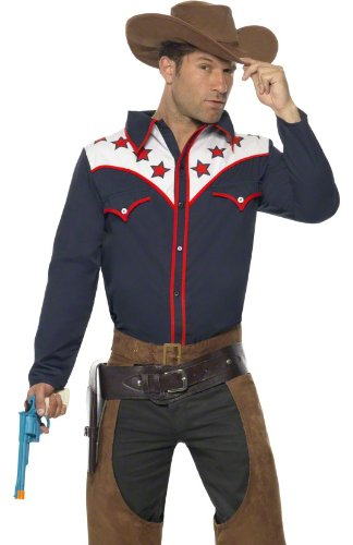 mens rodeo cowboy western adult halloween costume large