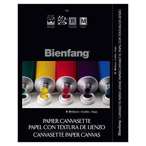 Bienfang 9-Inch by 12-Inch Canvas Paper Pad, 10-Sheet