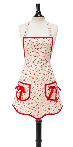 Jessie Steele Ava Bib Apron, Retro Cherries