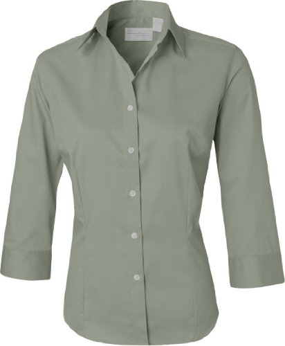 Van Heusen Ladies 3/4-Sleeve Baby Twill Dress Shirt