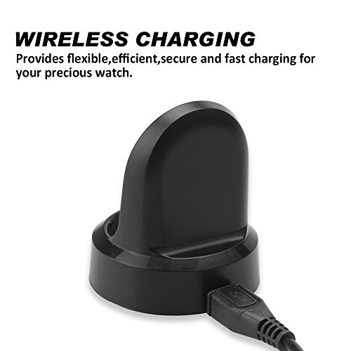 Maxjoy for Gear S3 Charger - Replacement Wireless Charger Charging Cable Cradle Dock Stand with USB Cord Wire for Samsung Galaxy Gear S3 Classic (SM-R770) & Frontier(SM-R760/R765) Smart Watch,Black by Maxjoy (Image #4)