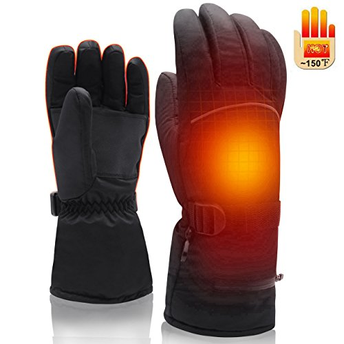 SVPRO Rechargeable Electric Battery Heated Gloves,Warm Winter Men & Women Gloves, Waterproof Sport Outdoor Thermal Gloves for Hike Hunt Mountaineer Ski Snowboard Motorcycle Cycle,Heat up to 2 - 5 Hour