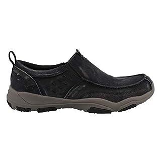 Skechers Larson Bolten Men's Slip On Shoes Black/Charcoal 9.5W