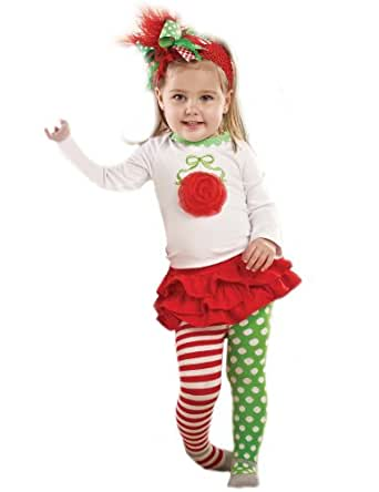 Mud Pie Baby-girls Infant Ornament Skirt Set, Red, 12-18 Months