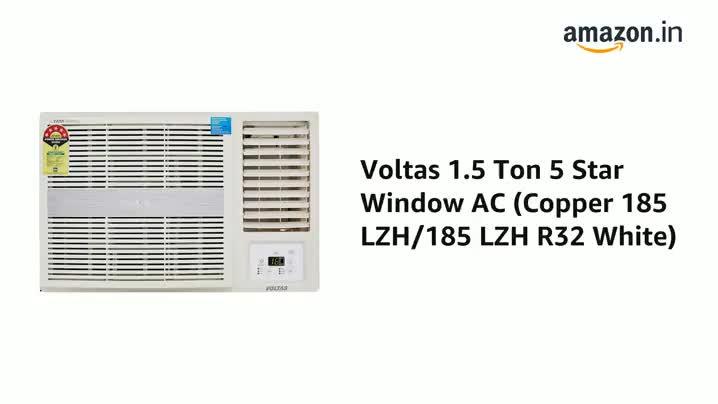 Voltas 1.4 Ton 5 Star Fixed Speed Window AC (Copper, 2021 175 LZH, White), regular Discounts Junction