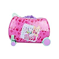 "Nickelodeon Paw Patrol Boys - Girls Carry On Luggage 20"" Kids Ride-On Trunky Suitcase (GIRL MULTI)"