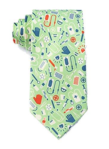 Men's Microfiber Medical Supplies Doctor Nurse Necktie Neck Tie Neckwear
