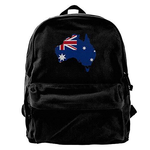 Australian Flag Map Unisex Canvas Bag Backpack Leisure Shoulderbag Daypack by Tailing