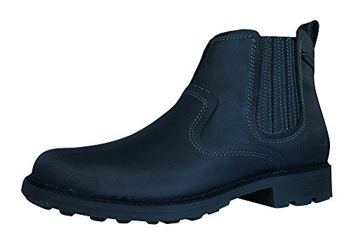 Skechers Pemex Setro Cuero de los hombres de Chelsea Botas / Zapatos - Negr Black