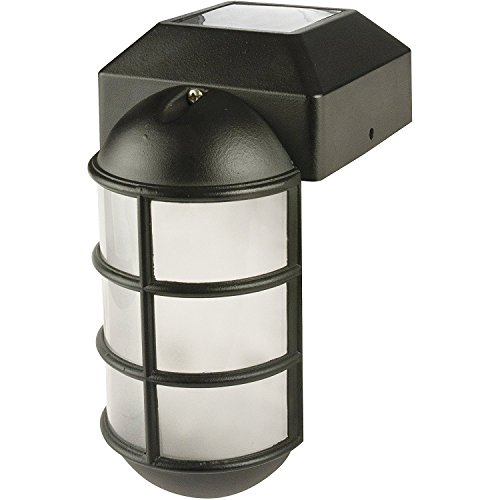 Paradise GL23877BK Solar Cast Aluminum LED Post Cap Light by Paradise