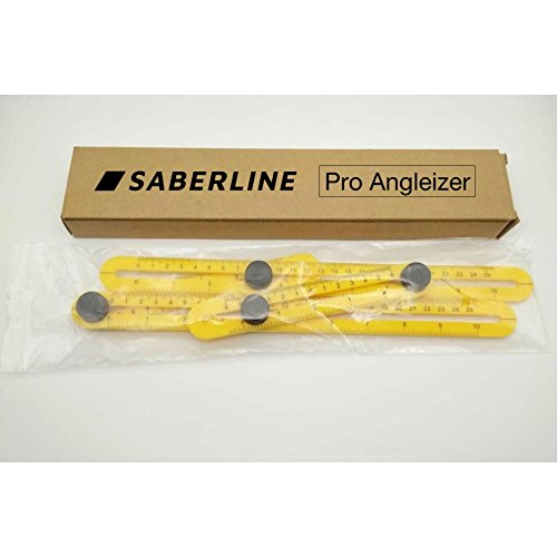 Angle Tool by Saberline Easy MaxForm Multi Angle Measuring Template Ruler With Metal Knob And Durable Plastic by Saberline (Image #7)