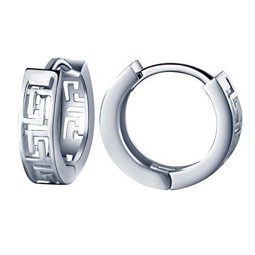 Infinite U Huggie Earrings 925 Sterling Silver Small Hoop for Women/Girls - Sterling Silver Bug