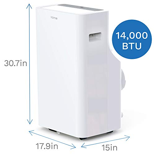 hOmelabs Portable Air Conditioner - 14000 BTU Quiet AC with Removable Washable Filter - Cooling Fan with Remote Control… 2