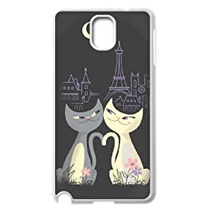 AKERCY Cute Cats Phone Case For Samsung Galaxy note 3 N9000 [Pattern-5]