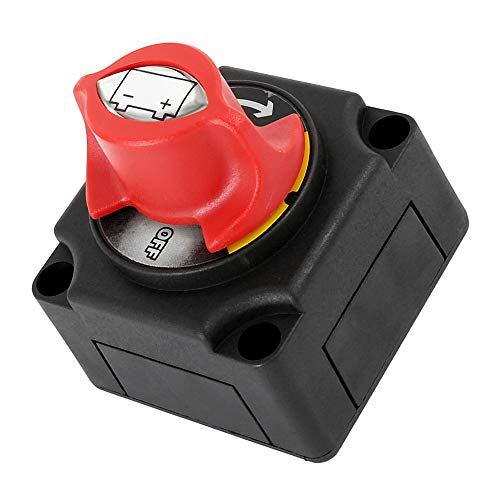 WarmCare 12/24V Battery Switch Master Isolator Cut On/Off Disconnect Switch for RV Battery Marine Boat Car Vehicle Waterproof - Care Boat
